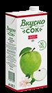 Упаковка «ВкусноСок», вкус - Яблоко. Объем 1 литр.