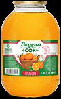 Напиток сокосодержащий апельсиновый в стеклянной банке 3 литра