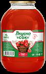 Напиток сокосодержащий томатный с солью в стеклянной банке 3 литра