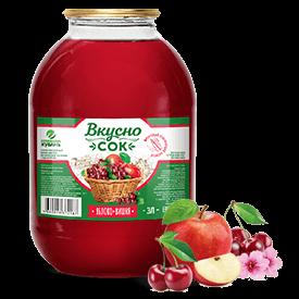Напиток сокосодержащий яблочно-вишнёвый в стеклянной банке 3 литра
