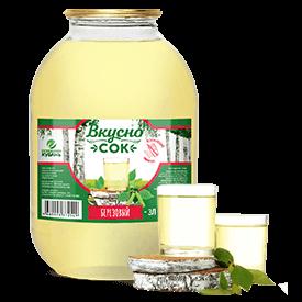 Напиток сокосодержащий берёзовый в стеклянной банке 3 литра