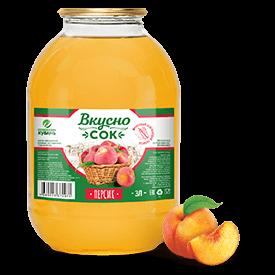 Напиток сокосодержащий персиковый в стеклянной банке 3 литра