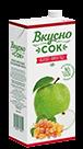 Упаковка «ВкусноСок», вкус - Виноград-Яблоко. Объем 1 литр.