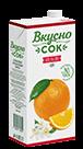 Упаковка «ВкусноСок», вкус - Апельсин. Объем 1 литр.