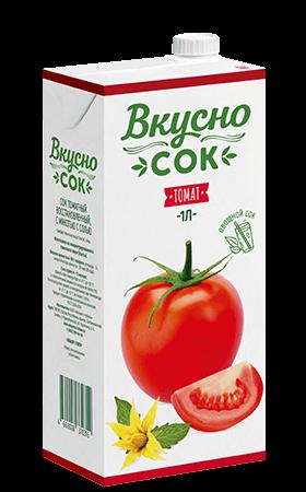 Упаковка «ВкусноСок», вкус - Томат. Объем 1 литр.