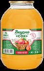 Напиток сокосодержащий яблочно-персиковый в стеклянной банке 3 литра