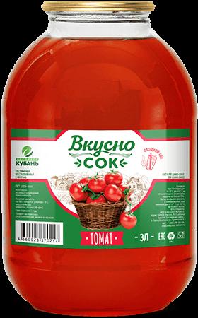 Напиток сокосодержащий томатный в стеклянной банке 3 литра