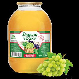 Напиток сокосодержащий виноградный в стеклянной банке 3 литра